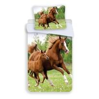 Lenjerie de pat Jerry Fabrics Horse 04, de copii, din bumbac, 140 x 200 cm, 70 x 90 cm