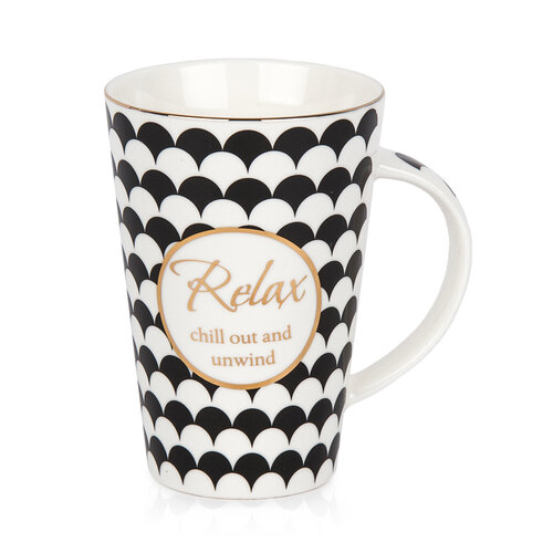 Relax porcelán bögre ajándékdobozban, 400 ml