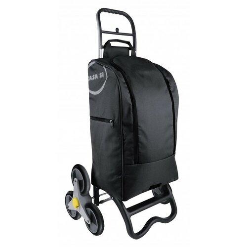 Nákupná taška na kolieskach Buddy, čierna