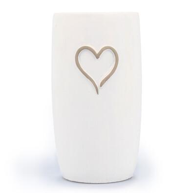 Betonový obal na květináč srdce pr. 12 cm