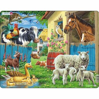 Larsen Puzzle Zvieratá na farme, 25 dielikov
