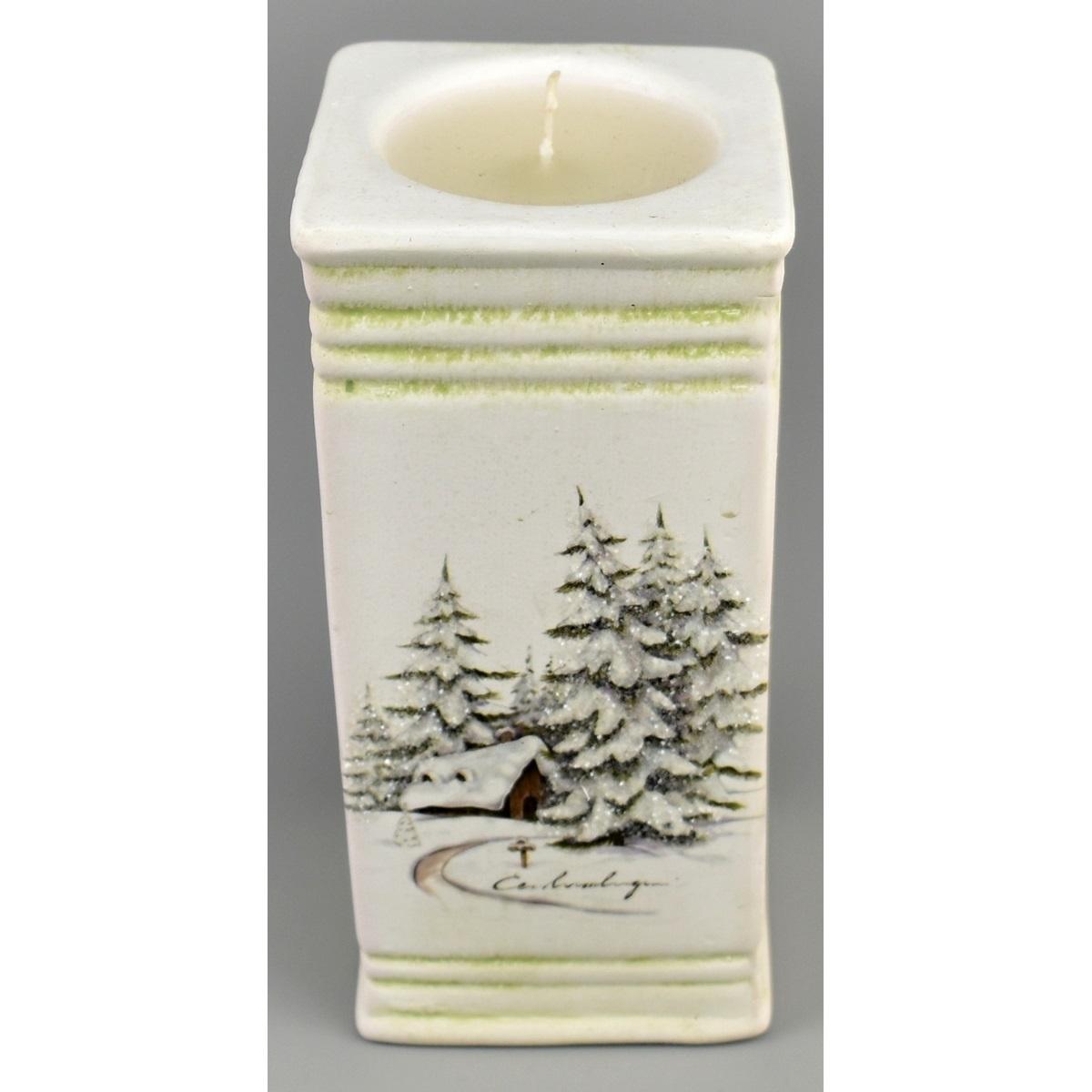 Vánoční svícen Naple se svíčkou, 15 cm