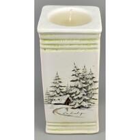 Świecznik bożonarodzeniowy Naple ze świeczką, 15 cm