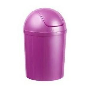 Coș de gunoi Aldotrade Swing 15 l, violet imagine 2021 e4home.ro
