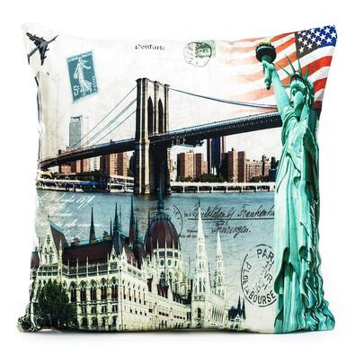 Povlak na polštářek Brooklynský most, 45 x 45 cm