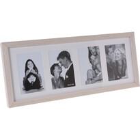 Ramka Memories na 4 zdjęcia brązowy, 52 x 22 x 3,5 cm