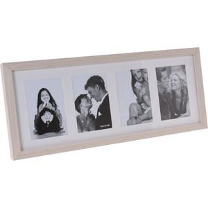 Fotorámeček Memories na 4 fotografie hnědá, 52 x 22 x 3,5 cm