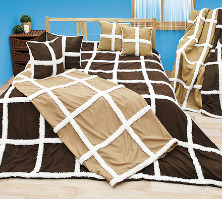 Beránková deka, tmavě hnědá