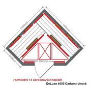 Infrasauna DeLuxe 4005  Carbon rohová