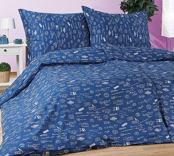 Saténové obliečky Indigo, 140 x 200 cm, 70 x 90 cm