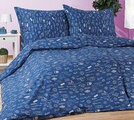 Saténové povlečení Indigo, modrá, 140 x 220 cm, 70 x 90 cm