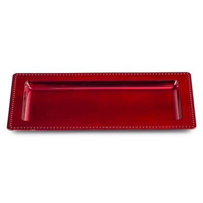 Tác na svíčky 35 x 18 cm, červená
