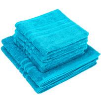 Set de prosoape Classic albastru, 4 buc. 50 x 100 cm, 2 buc. 70 x 140 cm