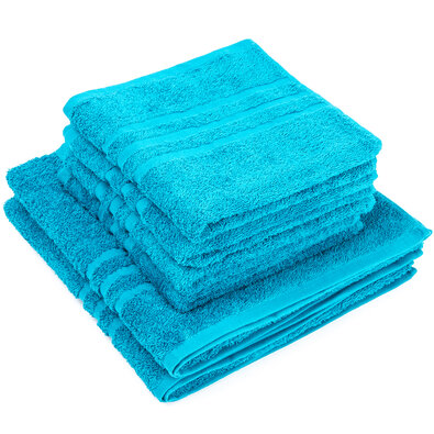 Sada ručníků a osušek Classic modrá, 4 ks 50 x 100 cm, 2 ks 70 x 140 cm