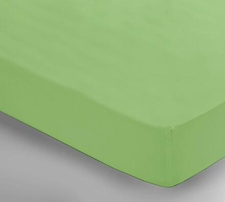 Saténové prostěradlo Uni zelená, 150 x 240 cm