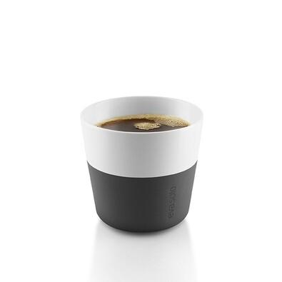 Hrnek na kávu lungo 230 ml černý, sada 2 ks