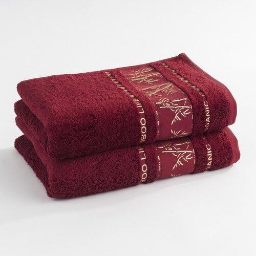 Ręcznik Bamboo life czerwony, 2 szt. 50 x 90 cm