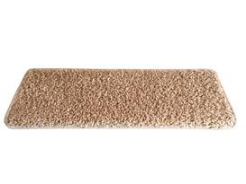 Covoraș pentru scări Color Shaggy, oval, bej, 24 x 65 cm