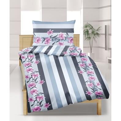 Bavlnené obliečky Ľalie šedoružová, 240 x 200 cm, 2 ks 70 x 90 cm