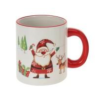 Świąteczny kubek ceramiczny, Mikołaj, 330 ml
