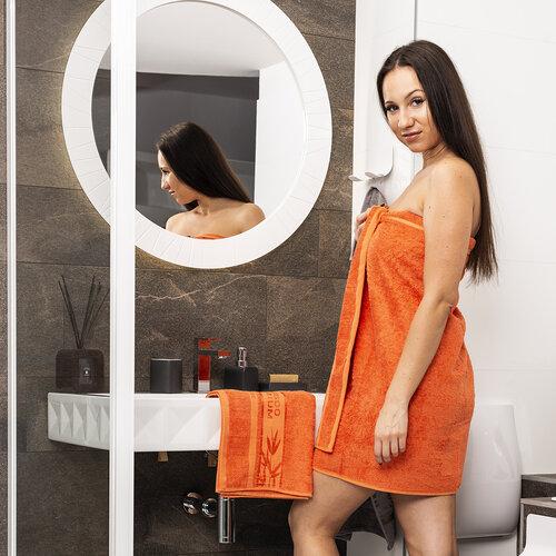 4Home Bamboo Premium ručník oranžová, 50 x 100 cm, sada 2 ks