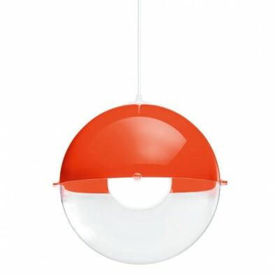 Koziol závěsné svítidlo Orion oranžovo-červená