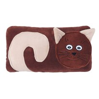 Bellatex Tvarovaný polštářek Kočička hnědá, 30 x 50 cm