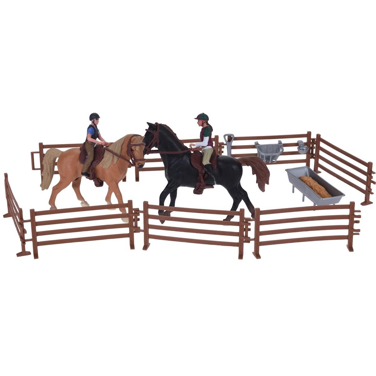 Koopman Dětský hrací set Koňská stáj, 21 cm