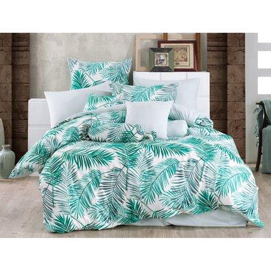 Bavlnené obliečky Palms Green, 140 x 220 cm, 70 x 90 cm