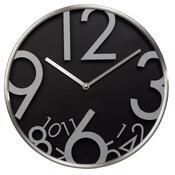 Nástěnné hodiny AG-300, tichý chod, černá