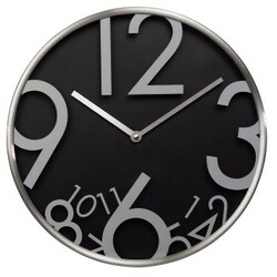 Nástenné hodiny AG-300, tichý chod, čierne