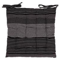 Pernă scaun matlasată Dungi gri, 40 x 40 cm