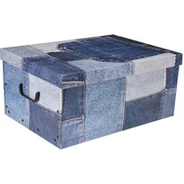 Koopman Úložný box Jeans, modrá