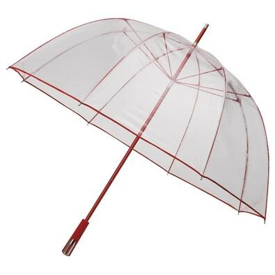 Průhledný deštník Princess červená