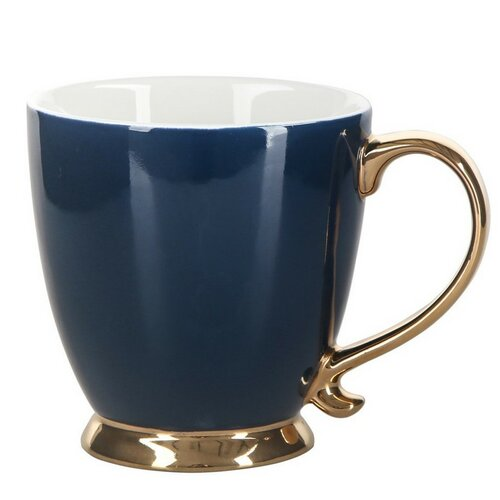 Altom Porcelánový hrnek Urban Gold 400 ml, modrá