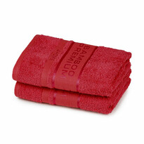 4Home Ręcznik Bamboo Premium czerwony, 30 x 50 cm, komplet 2 szt.
