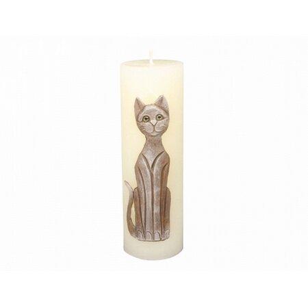 Dekoratív gyertya Cica bézs, 22 cm