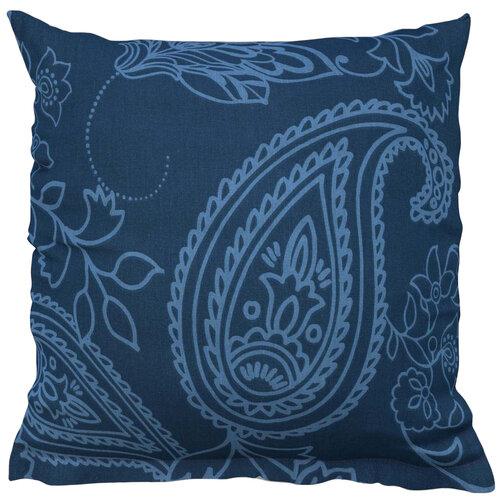 Poszewka na poduszkę Olympia petrol blue reverse, 40 x 40 cm