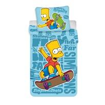 Bart blue 02 gyermek pamut ágynemű, 140 x 200, 70 x 90 cm