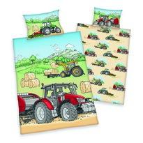 Detské bavlnené obliečky do postieľky Traktor, 100 x 135 cm, 40 x 60 cm