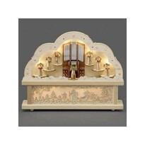 Adventný drevený svietnik Organ, prírodná