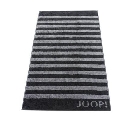 JOOP! ručník Stripes černý, 50 x 100 cm