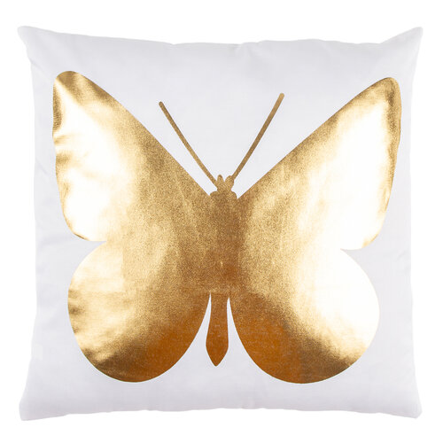 Polštářek Gold De Lux Motýl, 43 x 43 cm