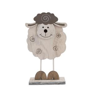 Dekorační ovečka bílá, 15,5 cm