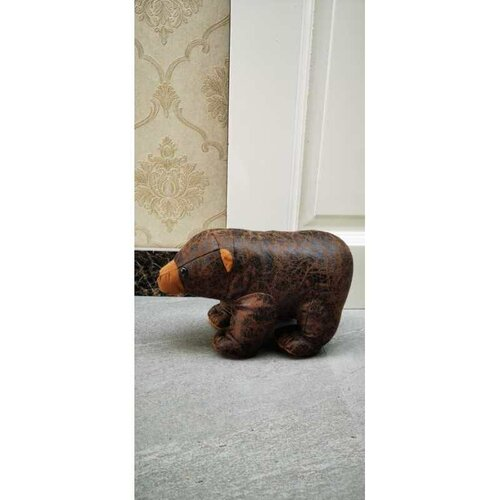 Textilná zarážka do dverí Medveď, 29 cm
