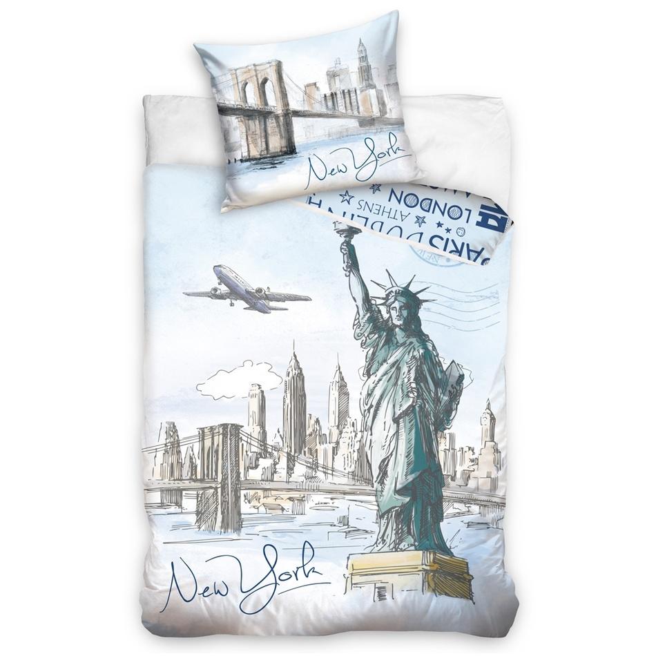 TipTrade Bavlnené obliečky New York City, 140 x 200 cm, 70 x 90 cm