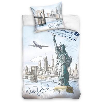 Bavlněné povlečení New York City, 140 x 200 cm, 70 x 90 cm