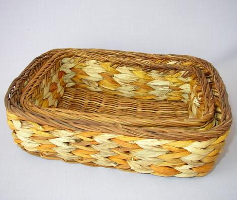 Košík vodní hyacint 2 ks