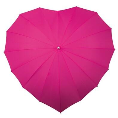 Dámský holový deštník srdce Heart tm.růžová