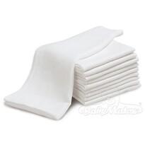 Pamut pelenka, fehér, 20 db-os szett, 70 x 80 cm